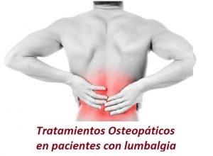 tratamiento osteopatico lumbalgia